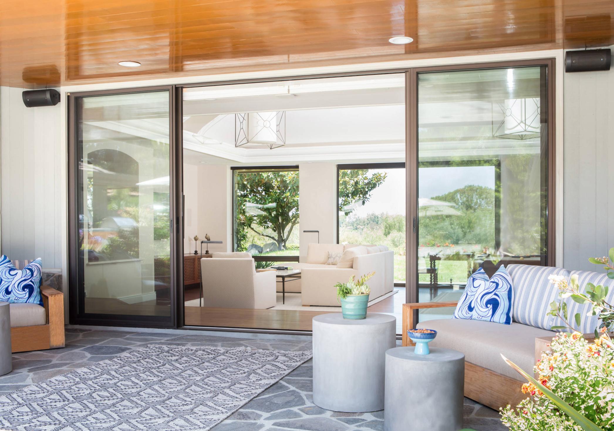 Indoor Outdoor Living Room in Lemon Ranch