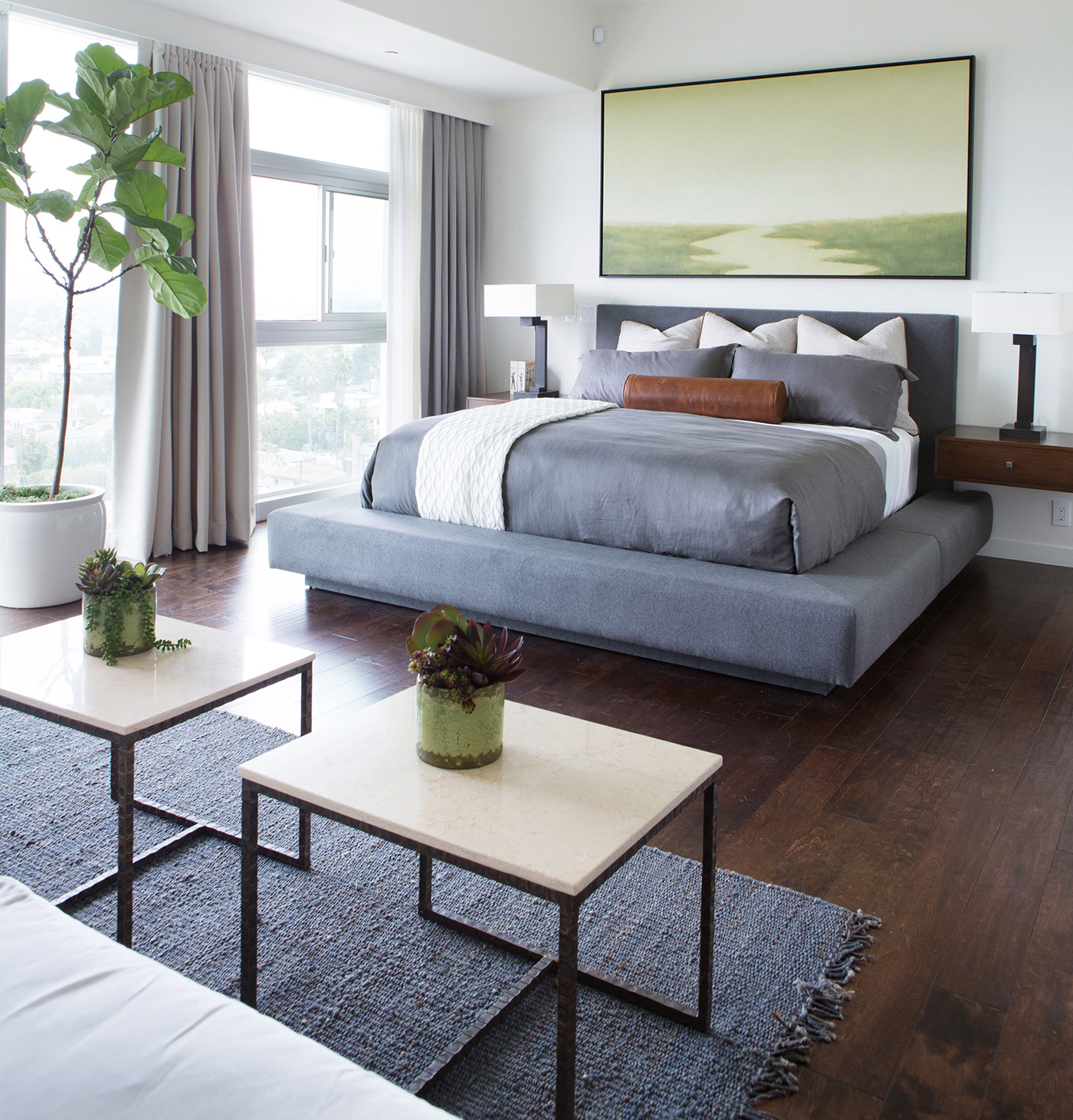 Bright, zen modern bedroom in Los Angeles