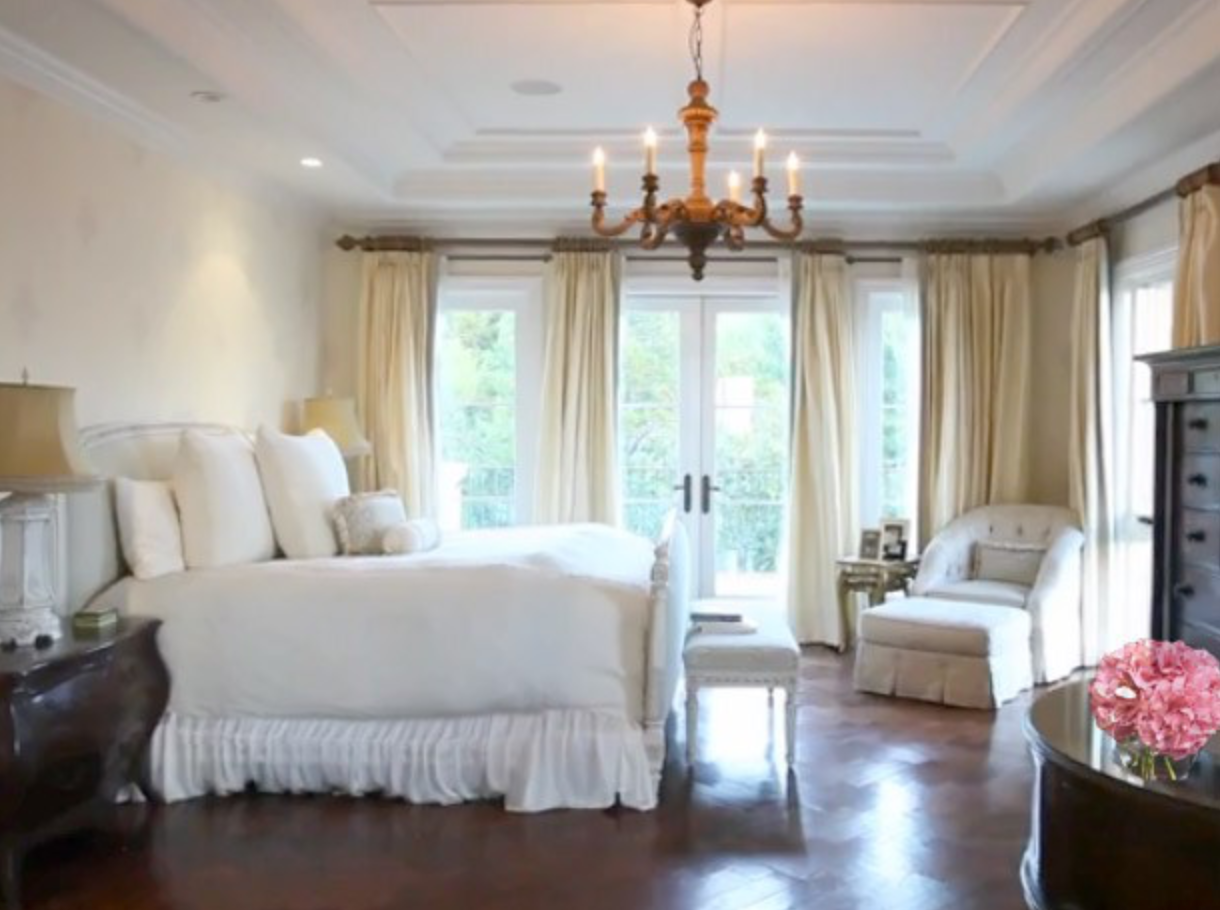 Shannon Beador bedroom in Newport Coast home