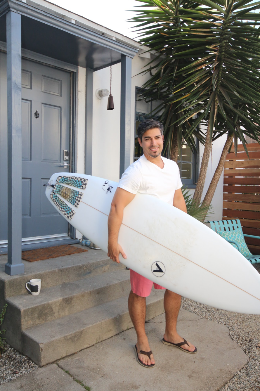 Surfer guy at Los Angeles vacation rental