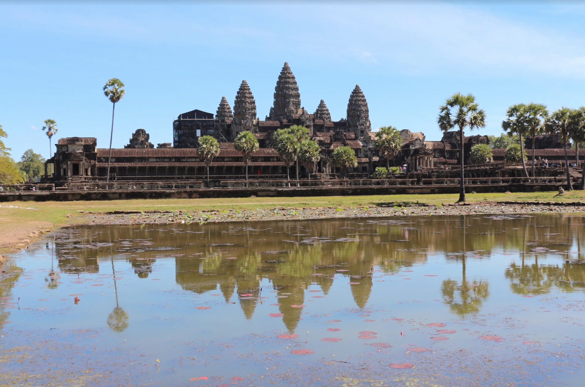Angkor Wat was constructed using 5-10 million sandstone blocks (some weighing 1.5 tons each)--more than all of the pyramids combined!