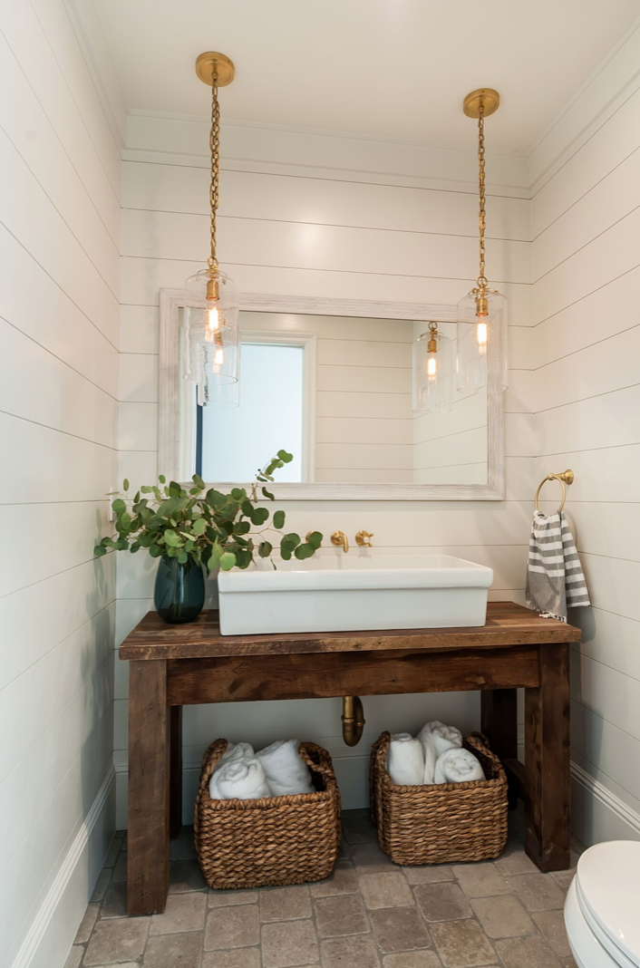 e're here to tell you shiplap walls are here to stay, at least for a while! They may be a passe design trend in suburban homes but are an intrinsic feature of the coastal farmhouse. What makes them great is that they add direction and texture in a clean, monochromatic space.