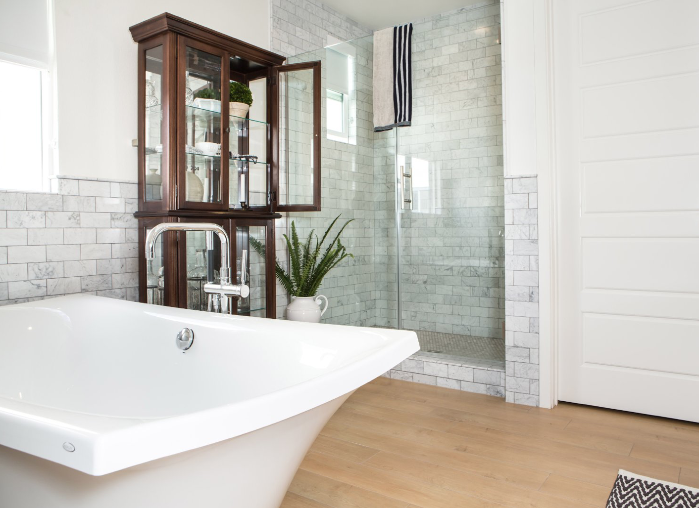 Walk-In Showers without elevation are also a great idea. Any time you can eliminate steps, the safer your space will be.