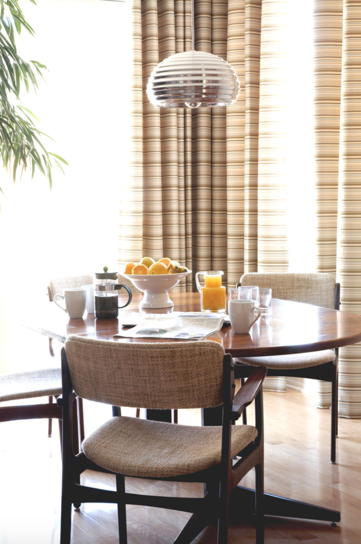 sunny midcentury dining room