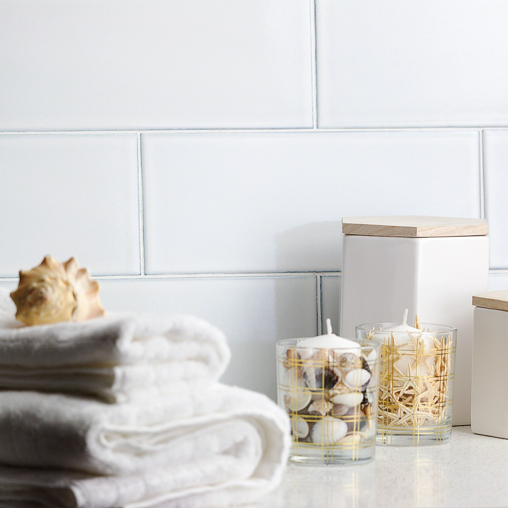 White Subway Tile Tile Available from the Lori Dennis collection for Tile Bar
