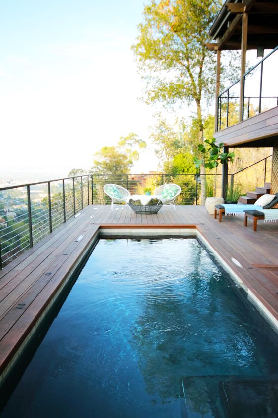 Pool Deck Overlooking the Hills