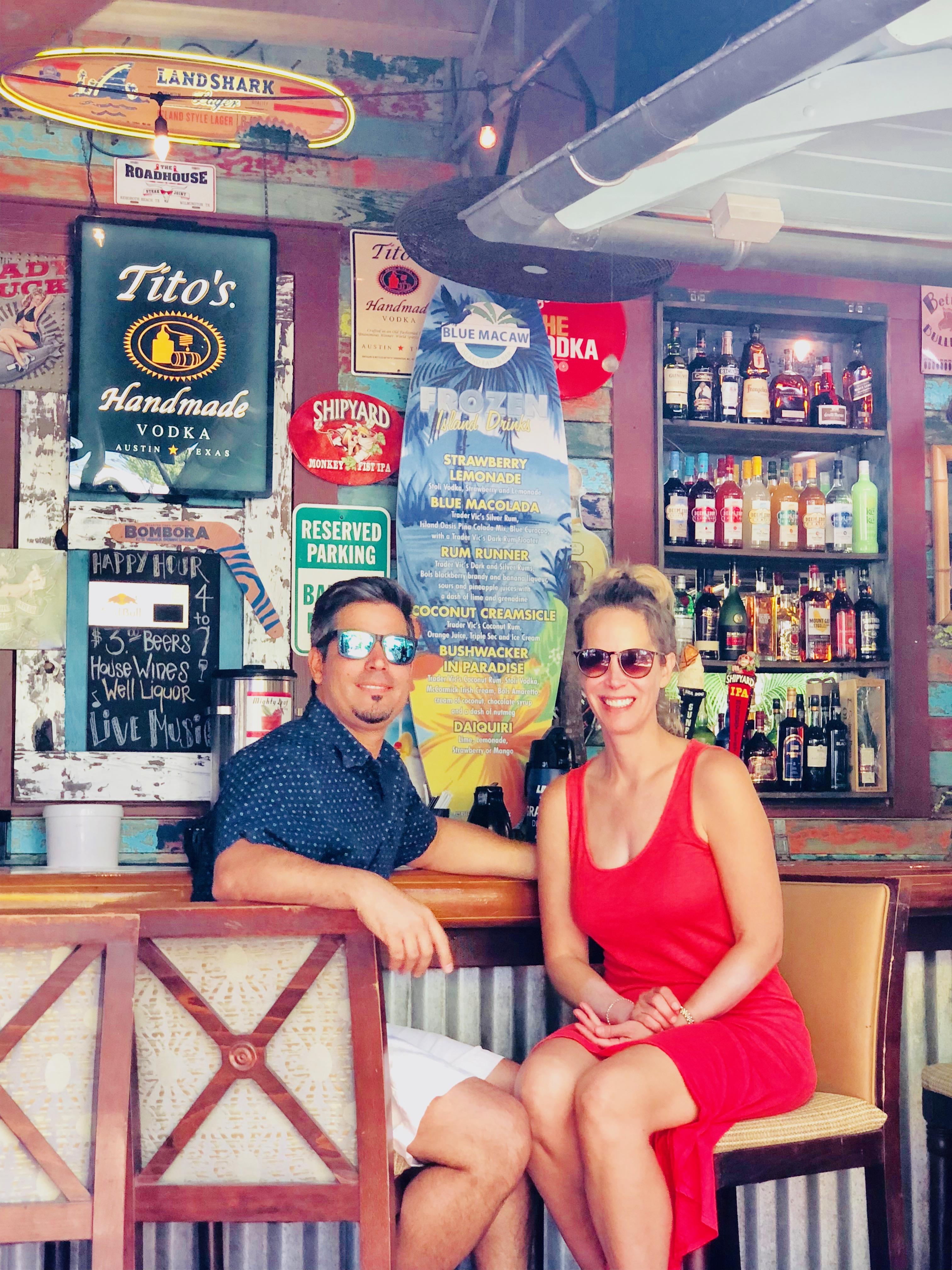 Celebrity interior designer Lori Dennis and SoCal Contrator's Roy Yerushlami enjoying Bloody Mary's in Key West