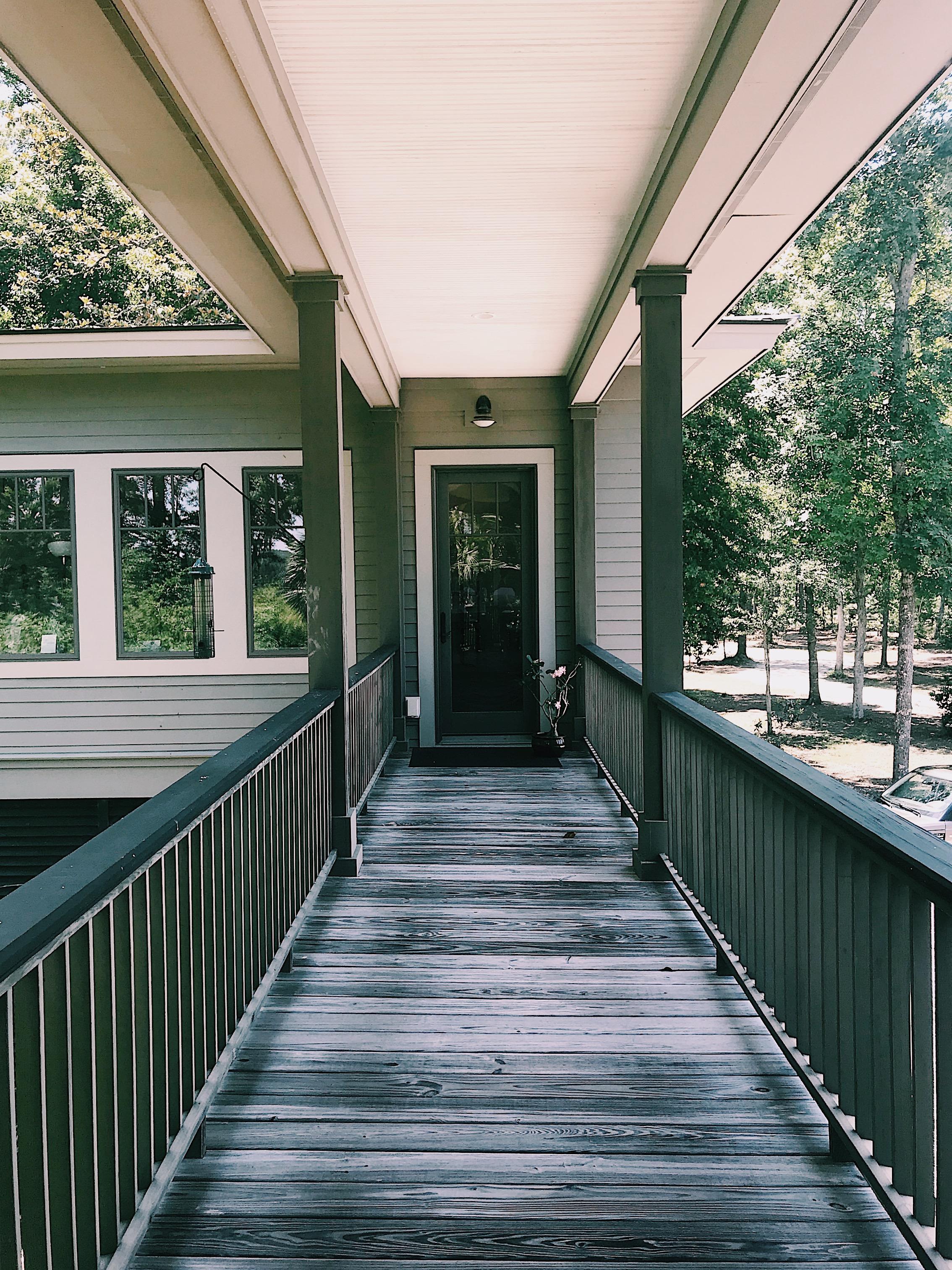 Gorgeous wrap around deck on an Edisto estate