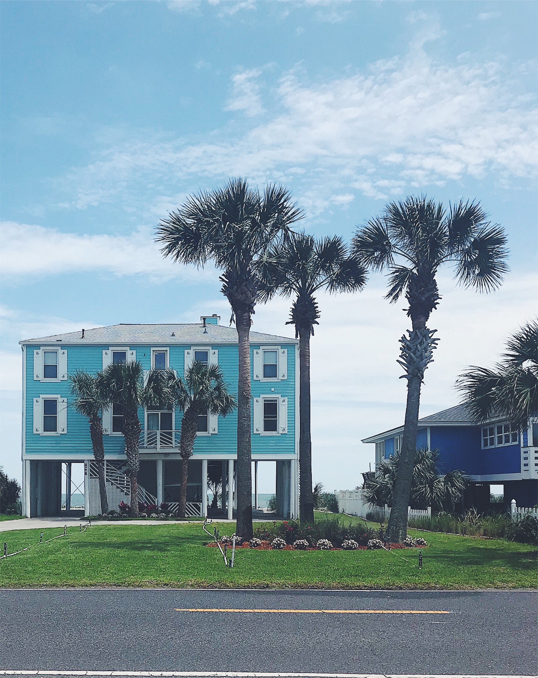 teal beach house folly
