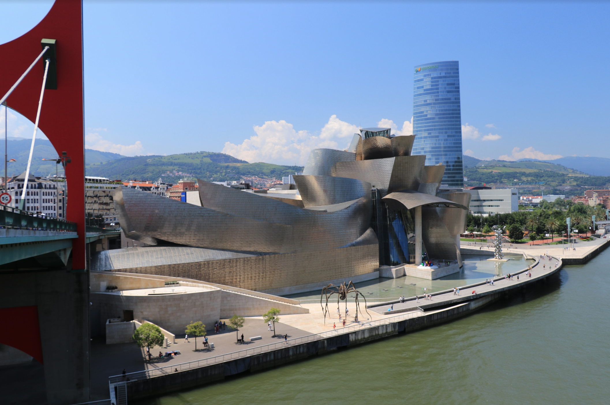 In contrast to Madrid, Bilbao is known for its avant garde, contemporary buildings, most notably The Guggenheim Bilbao-- an absolute must-see when visiting -- designed by Frank Gehry and inaugurated in 1997, which elevated the city and secured Bilbao a spot on the tourist's map.