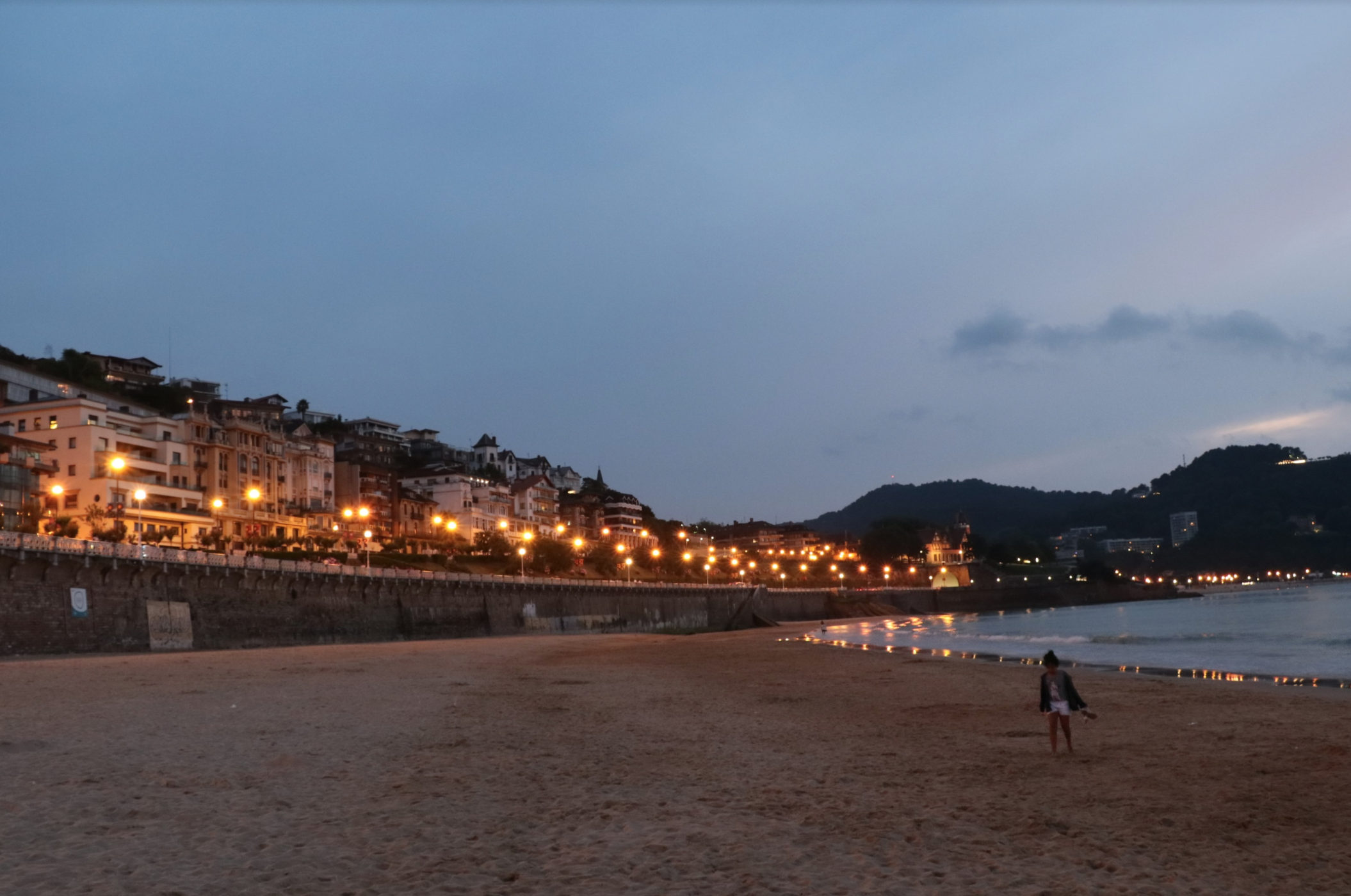 Historically, San Sebastian was a peaceful, quiet town prior to Napoleon's occupation, when civil unrest became the norm and bridges like The Santa Catalina, originally a wooden bridge, was repeatedly destroyed and rebuilt resulting in what you see today: far more elaborate, regal structure protruding from the cliff sides along the sea.