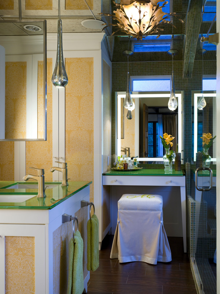 Chic-lighted-makeup-mirror-in-Bathroom-Contemporary-with-Makeup-Table-next-to-Master-Bathrooms-With-Closets-alongside-Dormer-Storage-andCorner-Vanity-