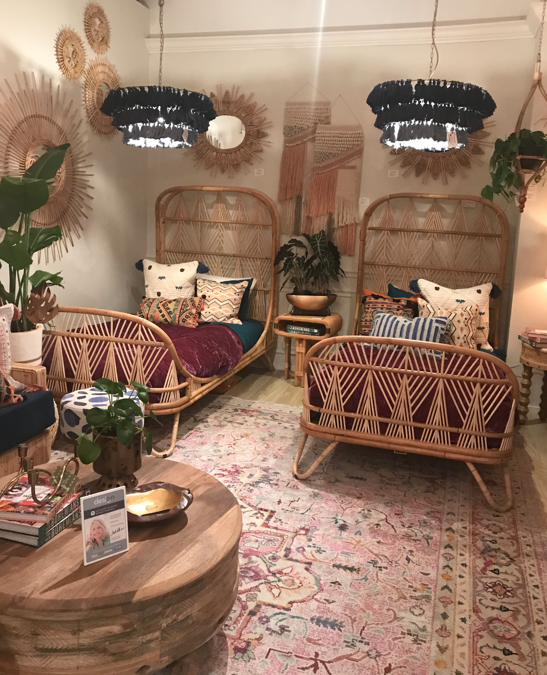 rattan twin beds