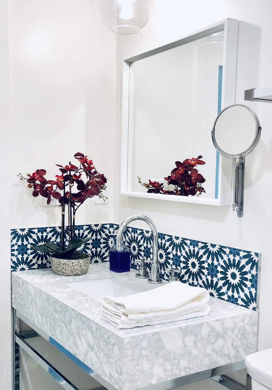 villa lagoon tile in modern global style air bnb home
