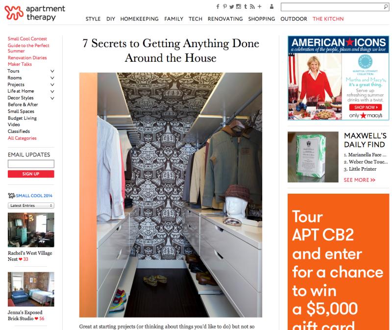 Apartment Therapy May 25 2014 Lori Dennis Celebrity Interior Designer