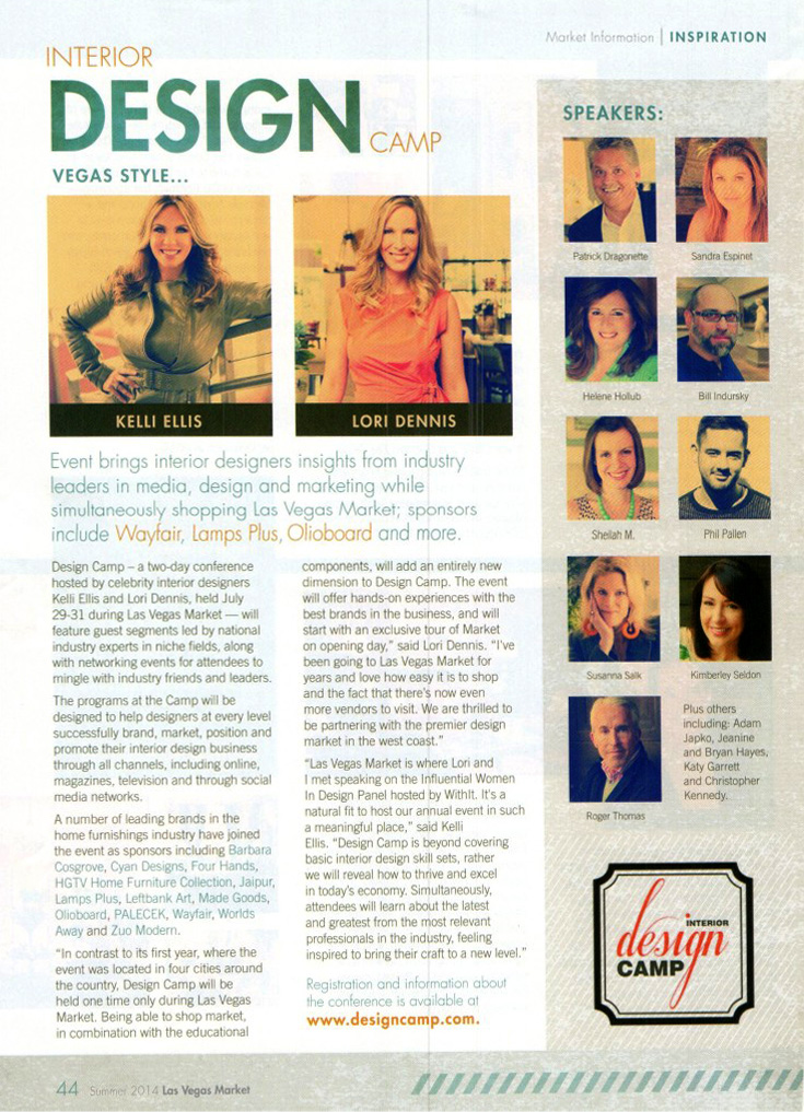 Las Vegas Preview Magazine Lori Dennis Interior Design Camp