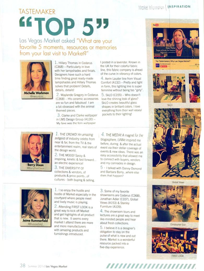 Las Vegas Preview Magazine Lori Dennis Interior Design Camp