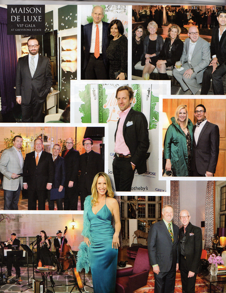 Luxe Magazine, Greystone Estate at Maison de Luxe Showcase, March 2012, Celebrity Interior Designer Lori Dennis