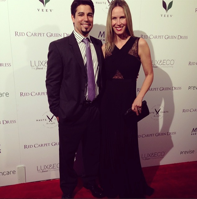 Los Angeles Celebrity Interior Designer Lori Dennis Red Carpet Green Dress Roy Yerushalmi
