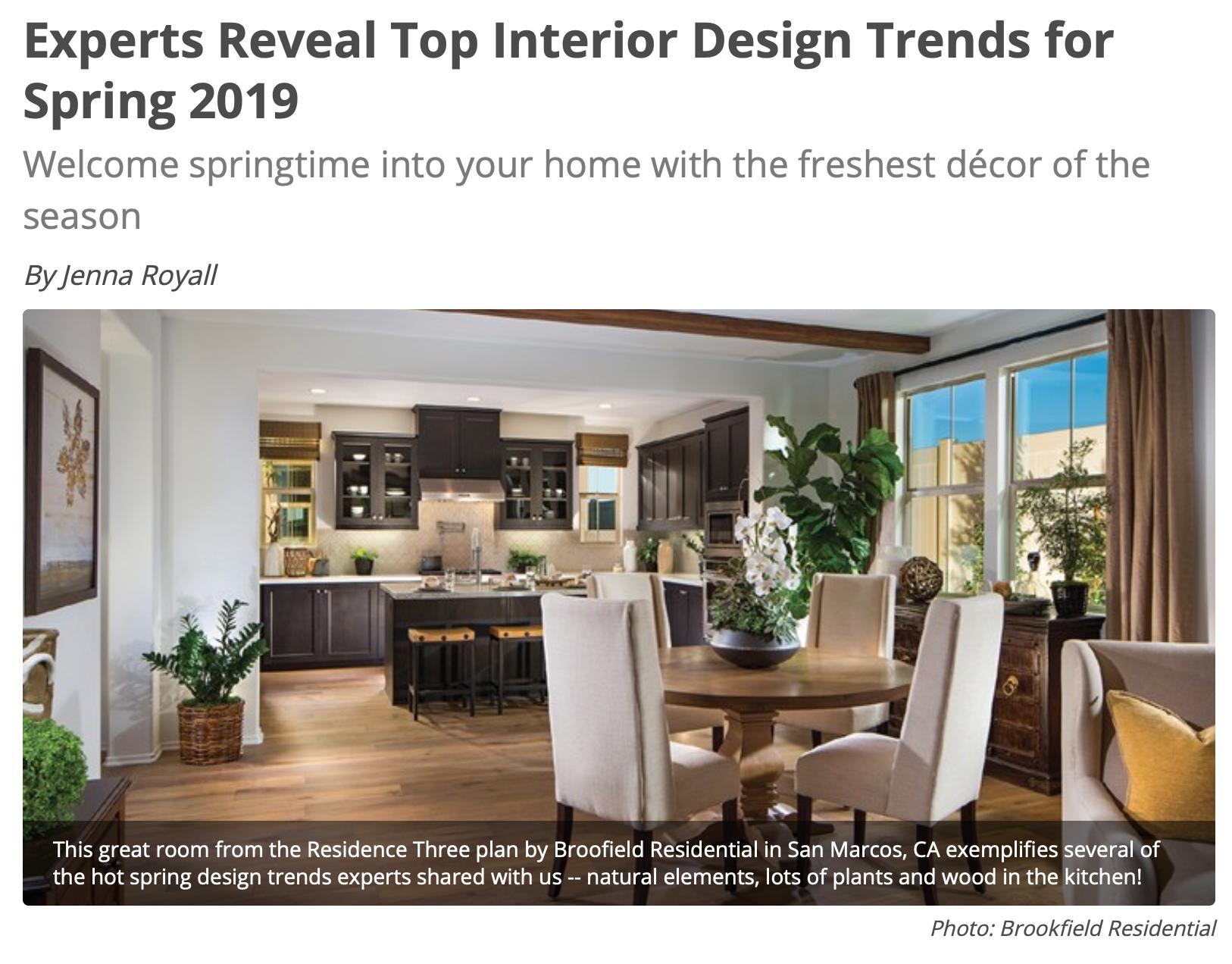 Spring Interior Design Trends